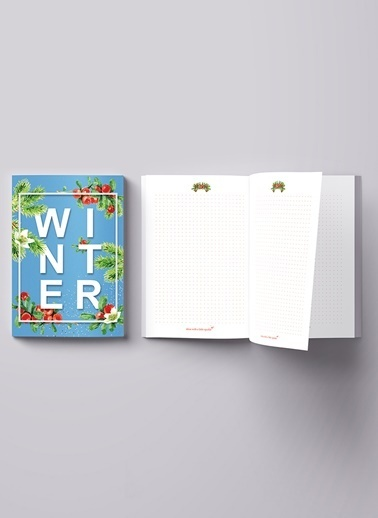 LWP Shop Winter Notebook Mavi